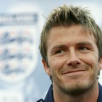 England captain Beckham talks to the media at the Mittelbergstadion near Baden-Baden